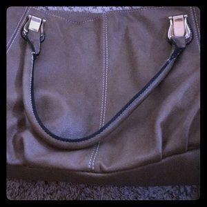 Light brown leather handbag , good condition
